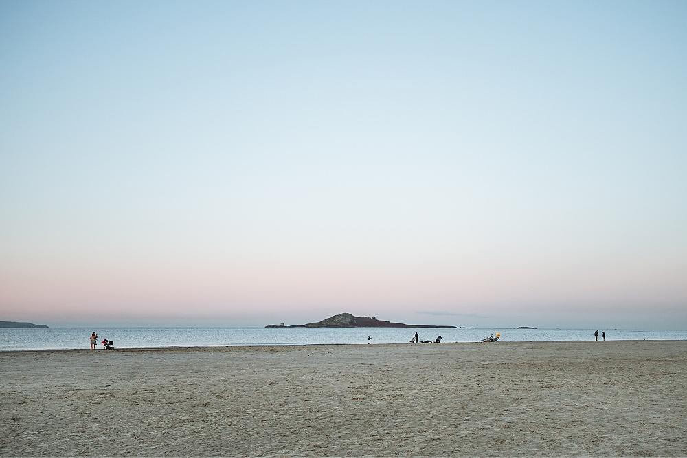 Ausflug mit Hund Irland Dublin Burrow Beach