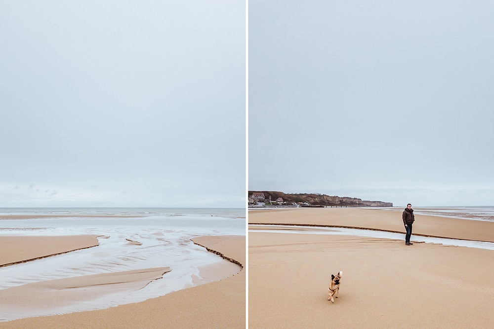 Omaha Beach mit Hund
